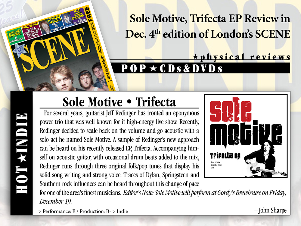 Sole Motive, Trifecta EP Review, SCENE Magazine, London